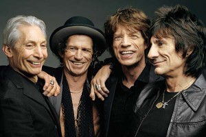 Charlie Watts, Keith Richards, Mike Jagger et Ron Wood © DR