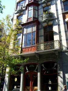 Façade Art Nouveau à Bruxelles