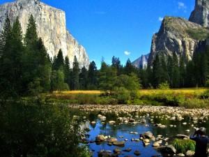 Yosemite - Paysages alpins où abondent torrents et chutes d'eaux - CP : Eliza Lagnier