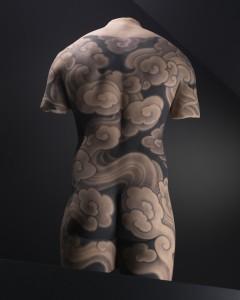 Motif de tatouage sur un dos masculin© musée du quai Branly4, photo Thomas Duval