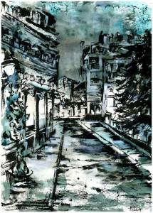 Paris Bleue Nuit © Mona Fontina