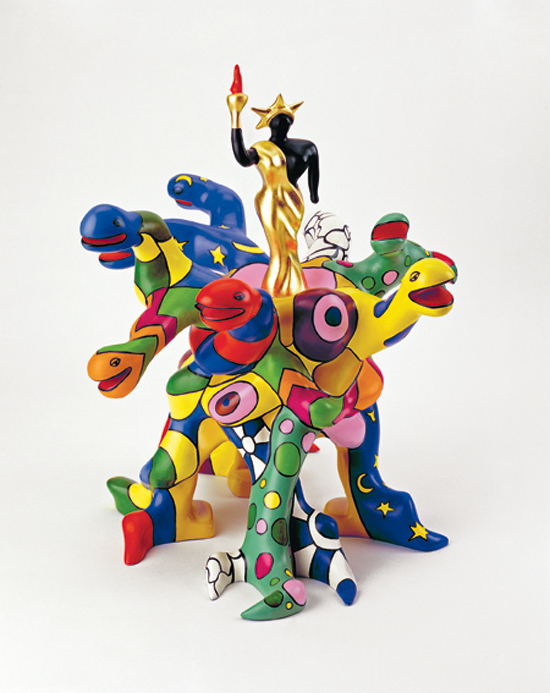 Tree of Liberty maquette 2000 48 x 50 x 54 cm polyester, peinture et feuilles d'or maquette Niki Charitable Art Foudation, Santee, USA © 2014 Niki Charitable Art Foundation, All rights reserved / Photo : Ed Kessler