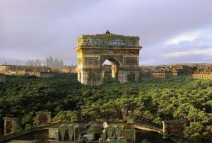 Chris Morin-Eitner - Paris King of Jungle Arc de Triomphe-Tirage Papier Métallique Kodak contrecollé-180 x 120 cm-2015 © Galerie W